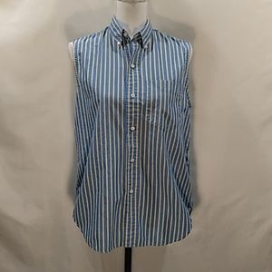 Ralph Lauren striped sleeveless button-down top 10